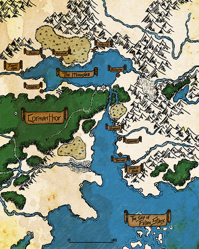 Map: The Moonsea & the surrounding regions (D&D)